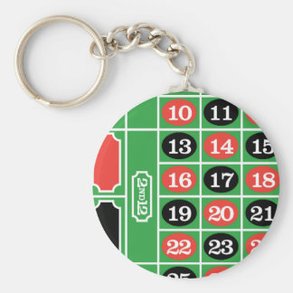 Roulette Table - Casino Gamble To Win Keychain