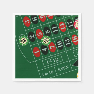 Roulette Table Casino Paper Napkin Set