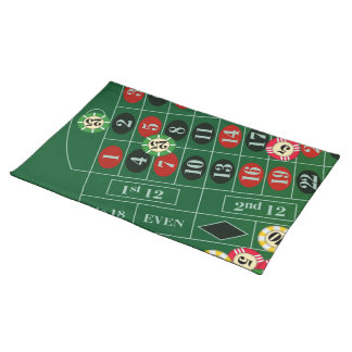 Roulette Table Custom Placemat Cloth Placemat