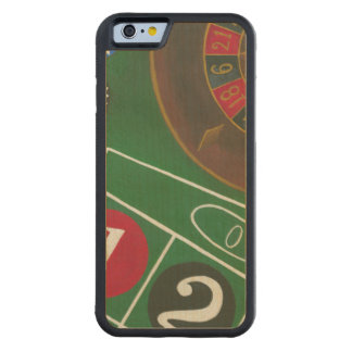 Roulette Table with Chips and Wheel Carved Maple iPhone 6 Bumper Case