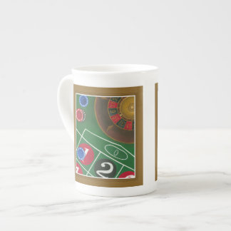 Roulette Table with Chips and Wheel Porcelain Mug