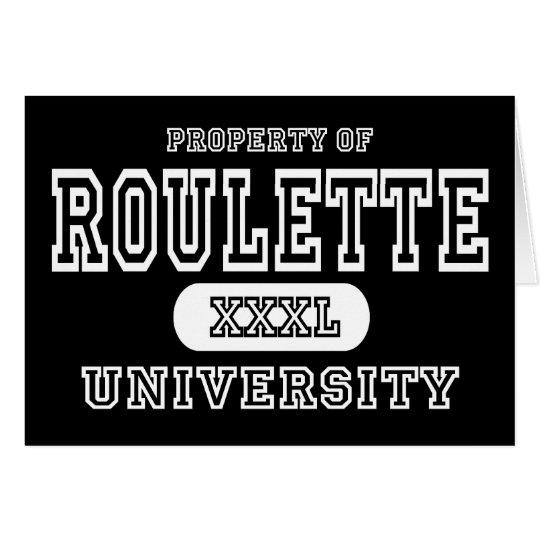 Roulette University Dark Card