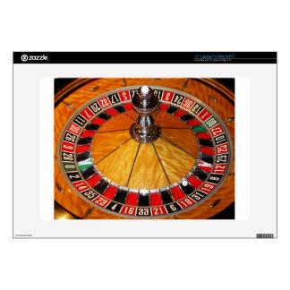 "Roulette wheel casino games 15"" laptop decals"