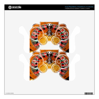 Roulette wheel casino games decal for PS3 controller