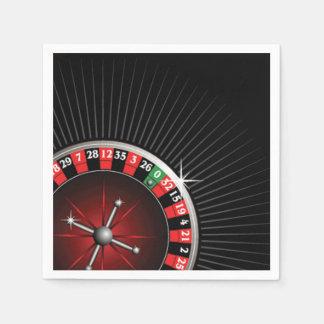 Roulette Wheel Casino Paper Napkin Set