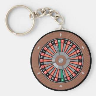 Roulette Wheel - Casino Play To Win Keychain