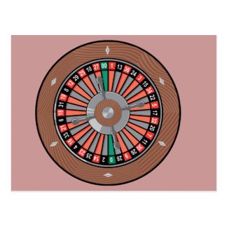 Roulette Wheel - Casino Play To Win Postcard