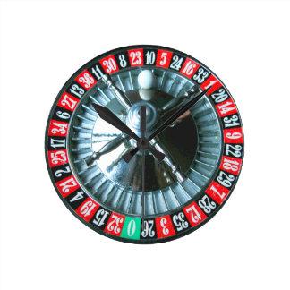 Roulette wheel clock