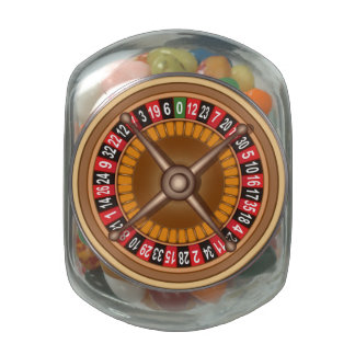 Roulette Wheel custom jars & tins Jelly Belly Candy Jar