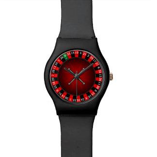Roulette wheel design wristwatches
