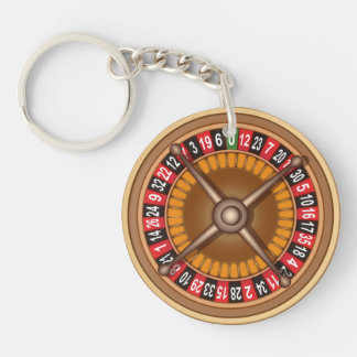 Roulette Wheel key chain