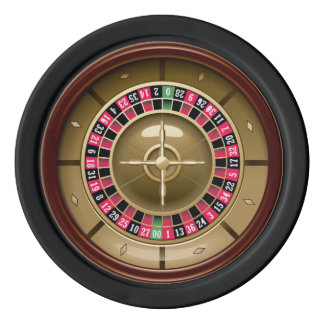 Roulette Wheel Poker Chips Set