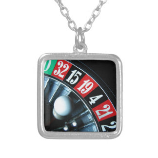 Roulette Wheel Silver Plated Necklace