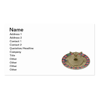 Roulette Wheel World Business Card Template