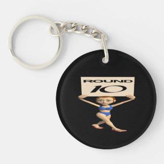 Round 10 Double-Sided round acrylic keychain