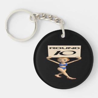 Round 10 Single-Sided round acrylic keychain