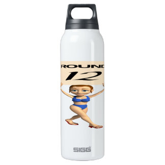 Round 12 16 oz insulated SIGG thermos water bottle