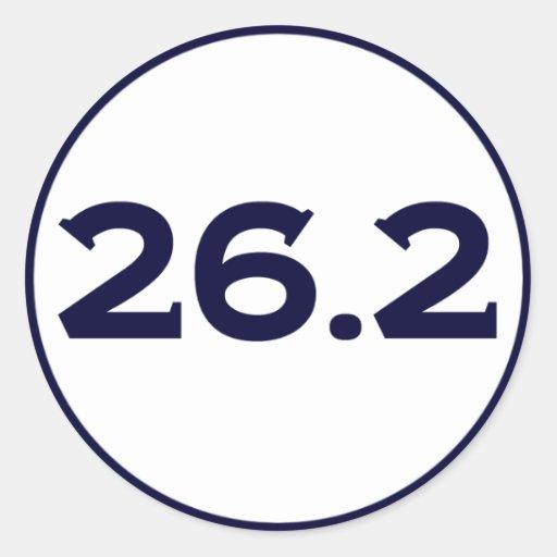 Round 26.2 Marathon Sticker