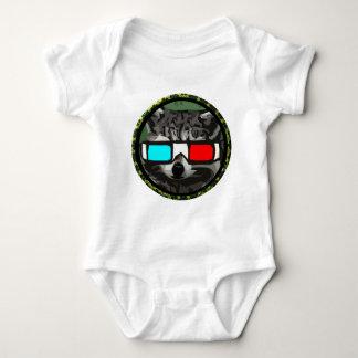 Round 3D Raccoon Baby Bodysuit