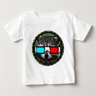 Round 3D Raccoon Baby T-Shirt