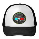 Round 3D Raccoon Mesh Hats