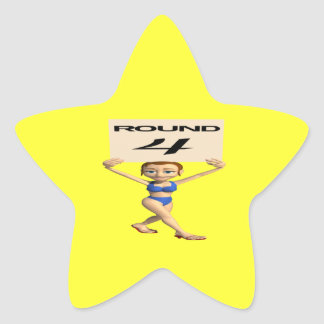 Round 4 star sticker