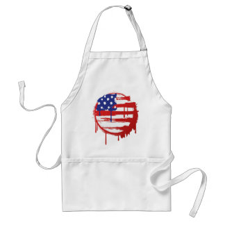 Round American Flag Adult Apron