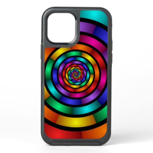 Round and Psychedelic Colorful Modern Fractal Art OtterBox Symmetry iPhone 12 Case