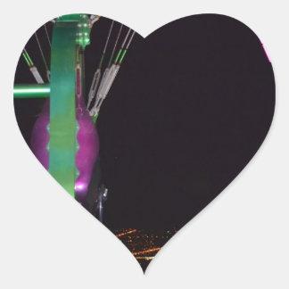 Round and Round Over Vegas Heart Sticker