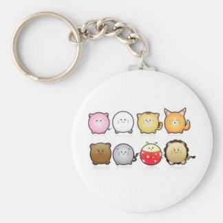 Round Animals Basic Round Button Keychain