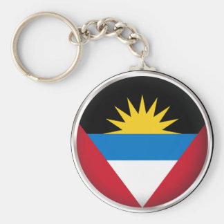 Round Antigua and Barbuda Keychain
