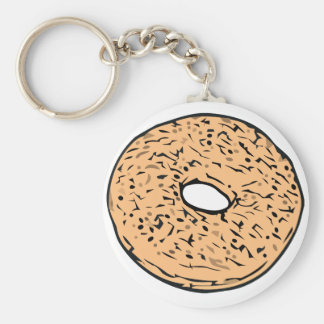 Round bagel key chains