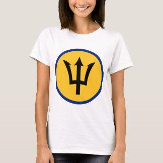Round Barbados Flag T-Shirt