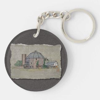 Round Barn Keychain