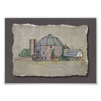 Round Barn Photo Print