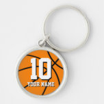Round basketball keychain   Custom name and number