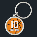"Round basketball keychain | Custom name and number<br><div class=""desc"">Round basketball keychain 