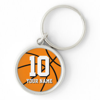 Round basketball keychain | Custom name and number