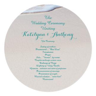 Round Beach Wedding Ceremony Program Template