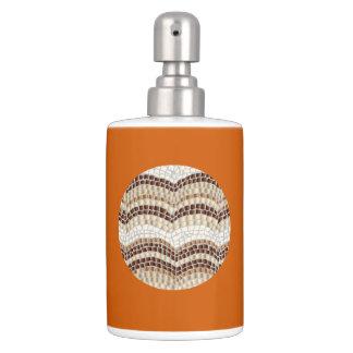 round beige mosaic bath set - Burnt Orange Bath Set