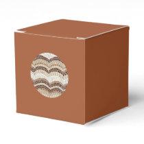 Round Beige Mosaic Classic Favor Box