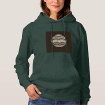 Round Beige Mosaic Women's Hooded Sweatshirt