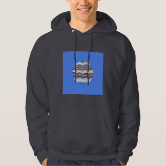 Round Blue Mosaic Men's Hooded Sweatshirt