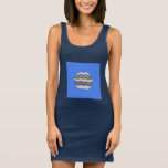 Round Blue Mosaic Women's Tank Dress