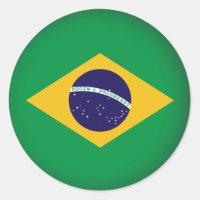 Round Brazil Classic Round Sticker