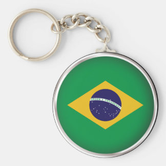 Round Brazil Keychain