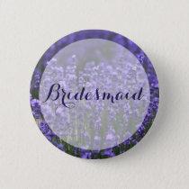 Round Bridesmaid Purple Lavender Wedding Buttons