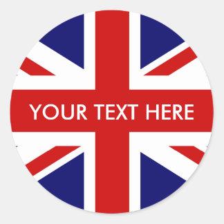 Round British Union Jack stickers | envelope seals