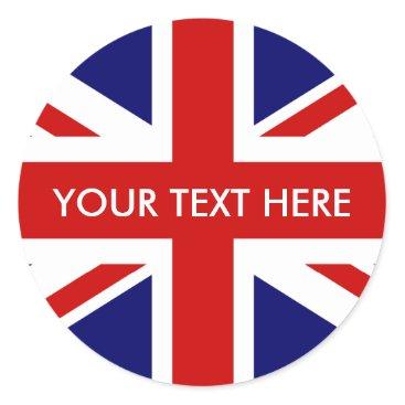 iprint Round British Union Jack stickers | envelope seals