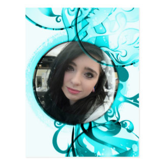 Round Bubble Swirl Frame Postcard your Photo